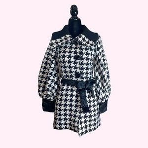 Dolce & Gabbana Houndstooth Black and White Coat